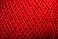 Red yarn close up Royalty Free Stock Photography