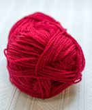 Red Yarn Closeup Royalty Free Stock Photo