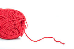 Red yarn Stock Images