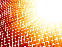 Red yelloe rays light 3D mosaic. EPS 8 Stock Photos