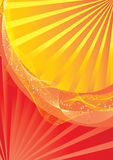 Red and yellow abstract background Royalty Free Stock Images