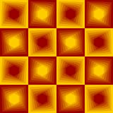 Red and yellow abstract background, checker patterns with blending hexagon texture. Vector EPS 10 Stock Images