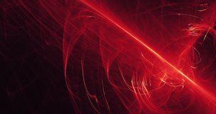 Red And Yellow Abstract Lines Curves Particles Background Stock Image