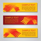 Red and yellow abstract technology banner.Vector corporate desig. N,fly geometric object style Stock Images