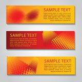 Red and yellow abstract technology banner.Vector corporate desig. N,halftone style  for web design,vector illustration Stock Photography