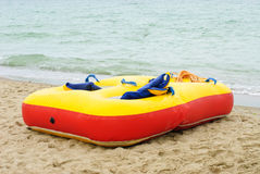 Red yellow air mattress Royalty Free Stock Image
