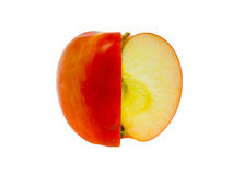 Red-yellow apple. Stock Photo