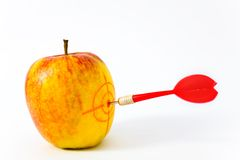 Red-yellow apple Stock Images