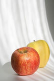 Red and yellow apple fruits Stock Images