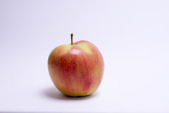 Red and yellow apple isolated on white background.  Royalty Free Stock Image