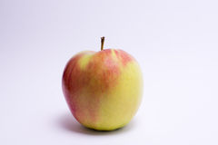 Red and yellow apple isolated on white background.  Royalty Free Stock Photos