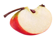 Red yellow apple slice Royalty Free Stock Images