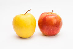 Red and yellow apples Stock Photos