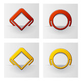 Red and yellow attached frames Stock Photography