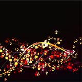 Red and yellow autumn leaves on a black background. abstract background.. stock photography