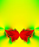 Red and yellow background. A red and yellow attract background pattern stock illustration