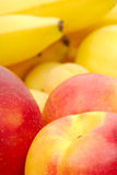 Red and yellow background of fruits Royalty Free Stock Image