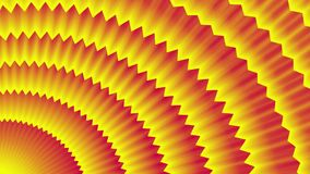 Red-yellow background. radial movement of jagged lines stock video