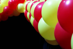 Red and yellow balloons. Party balloons background Royalty Free Stock Images