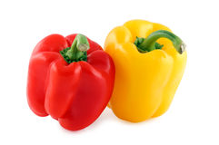 Red & yellow bell pepper. Red & yellow pepper isolated on white background Stock Image