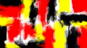 Red yellow and black painting texture Stock Images