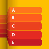 Red and yellow blank paper info graphic Royalty Free Stock Images