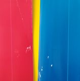 Red, yellow, blue paper background Royalty Free Stock Photography