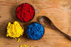 Red, yellow and blue: RYB. Red, yellow and blue (RYB) form the primary color triad in artists' color wheel.  Other colours can be created by mixing primary Stock Photo