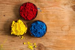 Red, yellow and blue: RYB. Red, yellow and blue (RYB) form the primary color triad in artists' color wheel.  Other colours can be created by mixing primary Stock Images