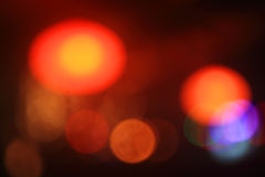 Red and yellow bokeh Royalty Free Stock Photos