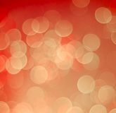 Red and yellow bokeh light vintage background Stock Photos