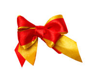 Red, yellow  bow, ribbon Royalty Free Stock Images