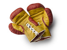 Red and yellow boxe gloves Royalty Free Stock Photography