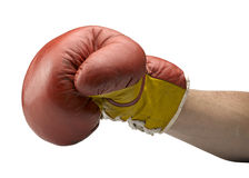 Red and yellow boxe gloves Stock Image
