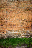 Red and yellow brick wall background Royalty Free Stock Photos