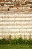 Red and yellow brick wall background Royalty Free Stock Image