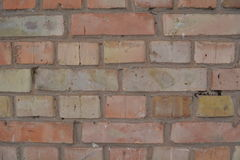 Red yellow Brick wall background texture Stock Photos