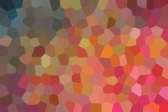 Red, yellow and brown bright Middle size hexagon background illustration. Red, yellow and brown bright Middle size hexagon background illustration Stock Illustration