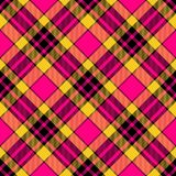 Red yellow brown pattern diagonally oriented seamless tile. Vivid colors checkered pattern diagonally oriented seamless tile Stock Photography