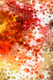 Red and yellow bubbles abstract Royalty Free Stock Images