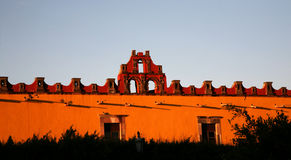 Red Yellow Building College San Miguel Mexico Royalty Free Stock Image