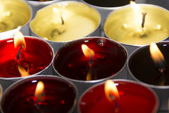 Red and yellow candle Royalty Free Stock Photography