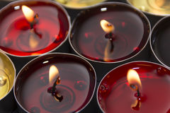 Red and yellow candle Royalty Free Stock Image