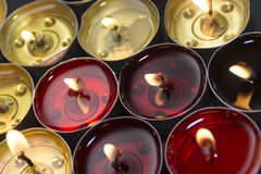 Red and yellow candle Stock Photo