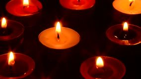 Red and yellow candle stock video footage