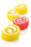Red and yellow candy stock images