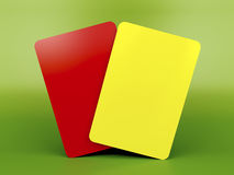 Red and yellow cards Stock Photos