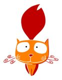 Red and yellow cat. Two-color illustration of a cat Stock Photo