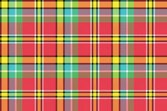 Red yellow check plaid seamless fabric texture Stock Images