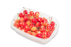 Red and yellow cherries Royalty Free Stock Photography
